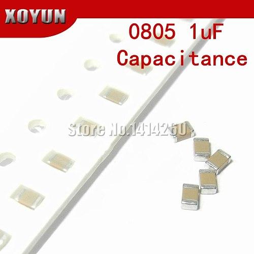 100pcs 0805 1uf 105K 105 100V X7R 10% SMD Ceramic Capacitor MLCC