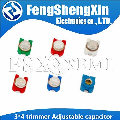 10pcs 3*4  trimmer Adjustable capacitor 3PF 6PF 10PF 20PF 30PF TZC3Z300A110 TZC3Z060A110 TZC3Z030A110 TZC3Z200A110 TZC3Z100A110