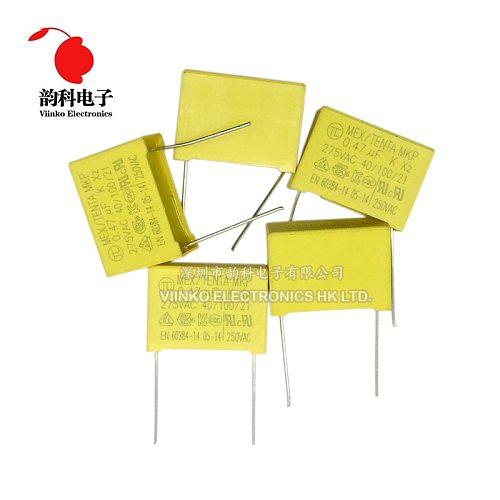 10pcs 275VAC X2 Safety capacitor 275V 10mm 15mm 22.5mm 27.5mm 0.022UF 0.047UF 0.1UF 0.22UF 0.47UF 0.68UF 1UF Polypropylene film
