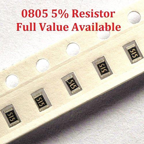 300pcs/lot SMD Chip Resistor 0805 3.9R/4.3R/4.7R/5.1R/5.6R 5% Resistance 3.9/4.3/4.7/5.1/5.6/Ohm Resistors 3R9 4R3 4R7 5R1 5R6 k