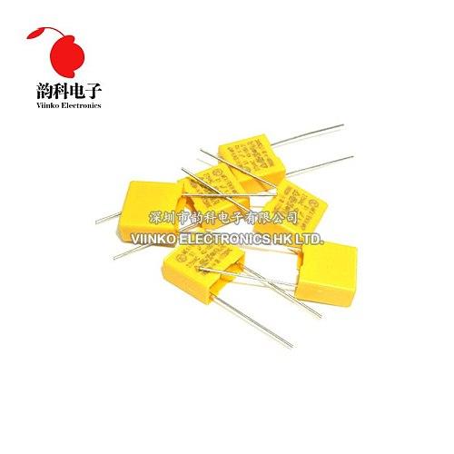 10pcs 275V X2 capacitor Pitch 10mm 275VAC X2 Polypropylene film capacitor 0.1uF 100nF