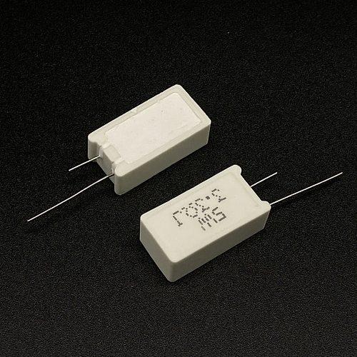 10 Pcs 5W Vertical cement resistance 0.05 ~ 100K ohm 5% 0.1R 0.15R 0.22R 0.25R 0.39R 0.47R 1R 10RJ 100R 150R Ceramic resistor