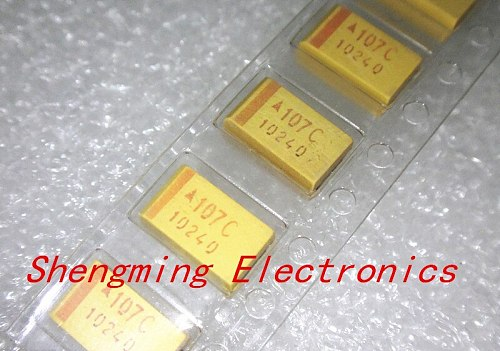 100pcs 7343D 16V 100UF 107C D-type SMD Tantalum Capacitor