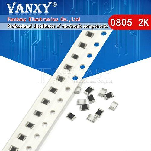 300PCS 0805 SMD Resistor 1% 2K ohm  1/8W 202