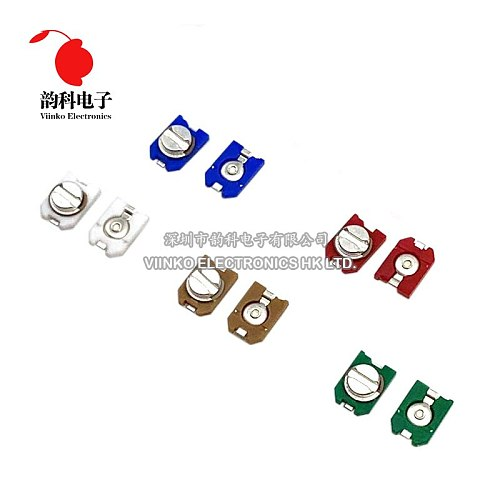 10pcs trimmer Adjustable capacitor 3PF 6PF 10PF 20PF 30PF SMD TZC3Z030A110 TZC3Z060A110 TZC3R100A110 TZC3P200A110 TZC3P300A110