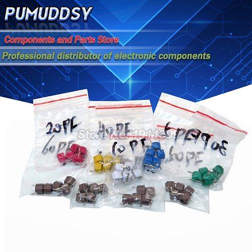 20PCS JML06-1 6mm 5PF 10PF 20PF 30PF 40PF 50PF 60PF 70PF trimmer Adjustable capacitor 5P 10P 20P 30P 40P 50P 60P 70P 120P