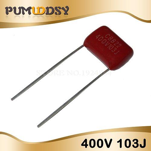 10PCS 400V103J 0.01UF 10NF 103 400V Pitch 10MM CBB Polypropylene film capacitor