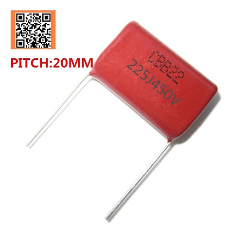 10pcs 450V 1UF 1000NF 105J PITCH 15MM 2.2UF 2200NF 225J PITCH 20MM 450V Pitch 10mm 5% DIP CBB Polypropylene film capacitor