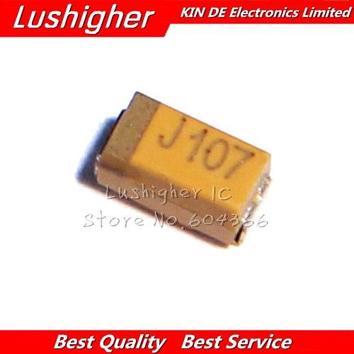 10pcs Case A 3216 100uF 6.3V 6V3 107 107J SMD Tantalum Capacitor