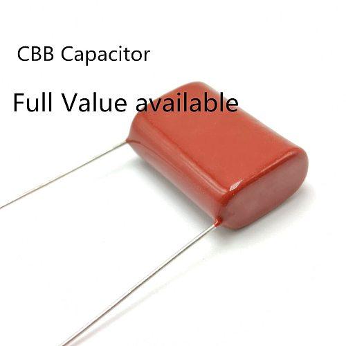 10pcs/lot Original CBB Polypropylene film capacitor 630V 475J  225J 105J 684J 564J 474J 334J 224J 154J 104J 473J 103J 472J 102J
