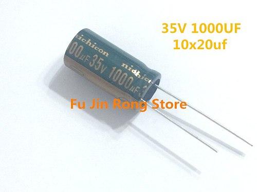 Original 20 pcs/lot 35V 1000uF  10 * 20 10MM * 20MM 1000uf 35v High frequency low resistance capacitance ic ...