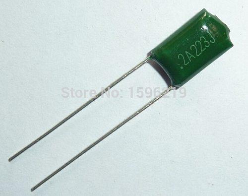 10pcs Mylar Film Capacitor 100V 2A223J 0.022uF 22nF 2A223 5% Polyester Film capacitor