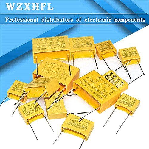 10PCS X2 1UF 0.68UF 0.33UF 0.22UF 0.1UF 0.47UF 0.01UF 275V 104 Safety Capacitor
