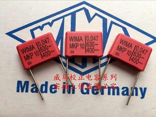 2020 hot sale 10pcs/20pcs German capacitor WIMA MKP10 630V 0.047UF 473 630V 47nf P: 15mm Audio capacitor free shipping