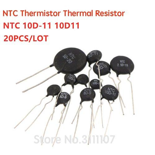 20PCS/LOT NTC Thermistor Resistor NTC 10D-11 10D11 Thermal Resistor