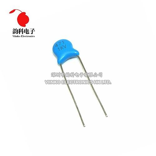 20pcs High Voltage Ceramic Capacitor 1KV 470pF 471