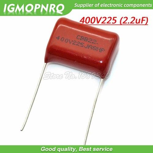 10PCS 400V225J 2.2UF Pitch 20M  225J400V 225 400V 2200PF CBB 400V225J-P20 Polypropylene film capacitor