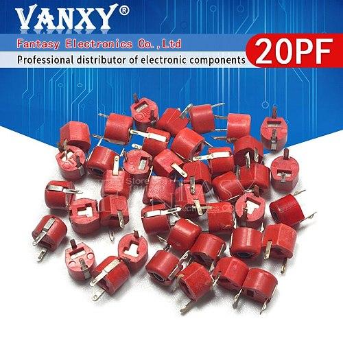 20pcs 20P 20PF 6mm JML06-1 DIP trimmer Adjustable capacitor