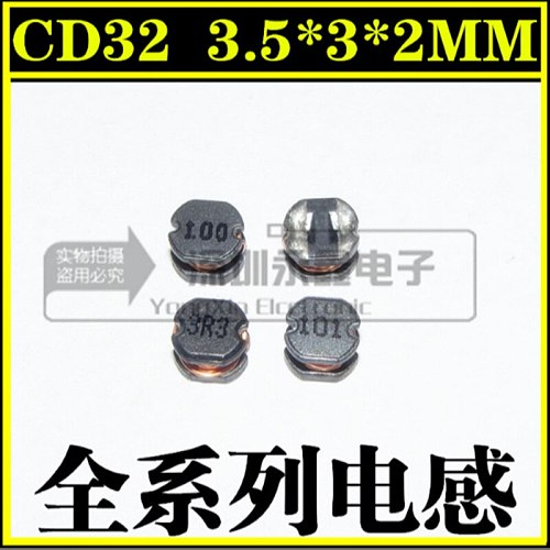 50pcs/lot  CD32   paster   power inductor  3.5*3*2MM    4.7UH/10UH/15UH/22UH/33UH/47UH/68UH/100UH