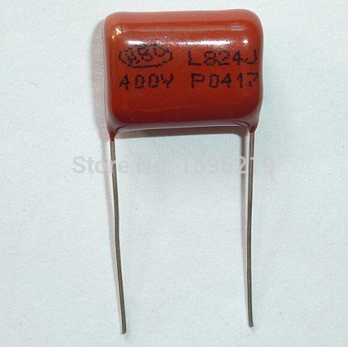 10pcs CBB capacitor 824 400V 824J 0.82uF 820nF P15 CBB21 Metallized Polypropylene Film Capacitor