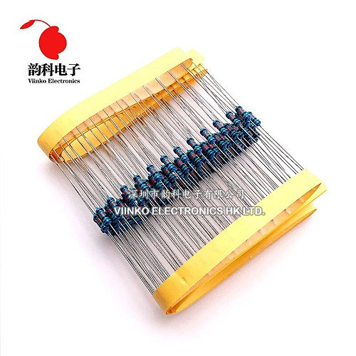 100pcs 470 ohms 1/4W 470R Metal Film Resistor 470ohm 0.25W 1% ROHS