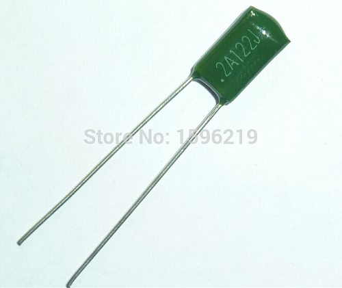10pcs Mylar Film Capacitor 100V 2A122J 1200pF 1.2nF 2A122 5% Polyester Film capacitor