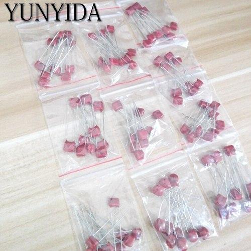 KIT  100PC=10value*10pcs Metallized Polyester Film Capacitors CBB Assortment Kit  100V  10nF ~ 470nF