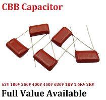 10pcs/lot CBB 400V 224J 15MM 0.22UF 220NF Metallized Film Capacitor 224J400V capacitance 400V224J 224