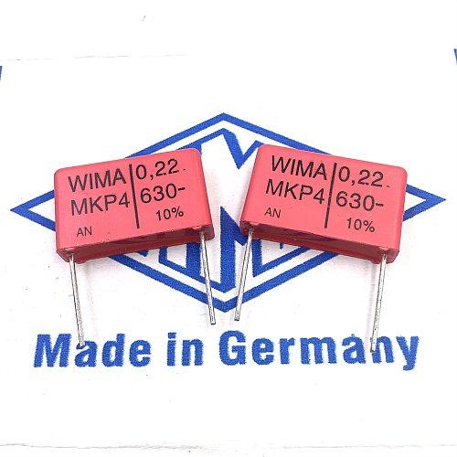 10PCS/30PCS Germany capacitor WIMA MKP4 630V 0.22UF 630V224 220NF pitch 22.5mm FREE SHIPPING