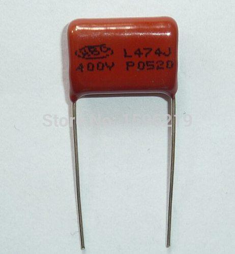 10pcs CBB capacitor 474 400V 474J 0.47uF 470nF P15 CL21 Metallized Polypropylene Film Capacitor