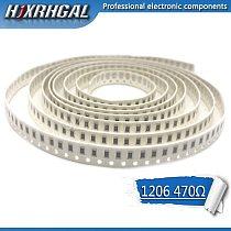 100PCS 1206 SMD Resistor 470 ohm chip resistor 0.25W 1/4W 470R 471 hjxrhgal