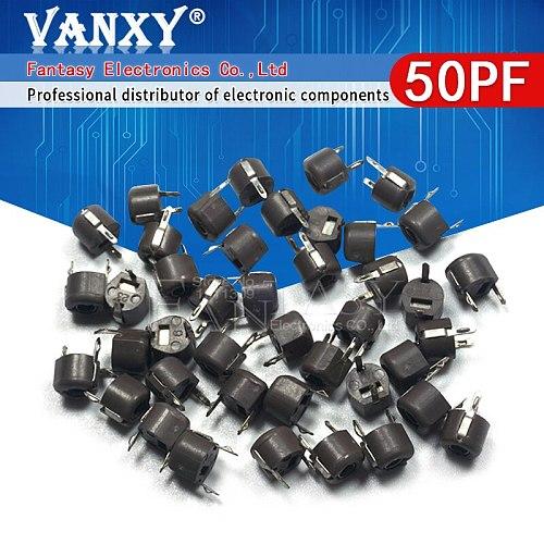 20pcs 50P 50PF 6mm JML06-1 DIP trimmer Adjustable capacitor