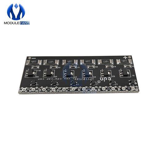 6PCS Single Row Super Farad Capacitor Balancing Protection Board Capacitor 2.5V -2.7V 1F -10F Protection Board