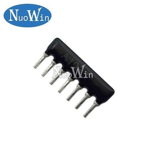20pcs DIP exclusion Network Resistor array 7pin 470 680 1K 2K 2.2K 3.3K 4.7K 5.1K 6.8K 10K 20K 33K 47K 100K 220K ohm