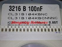 100PCS 1206 104K 50V 100NF 0.1UF 50V 1206 X7R 10% SMD capacitors
