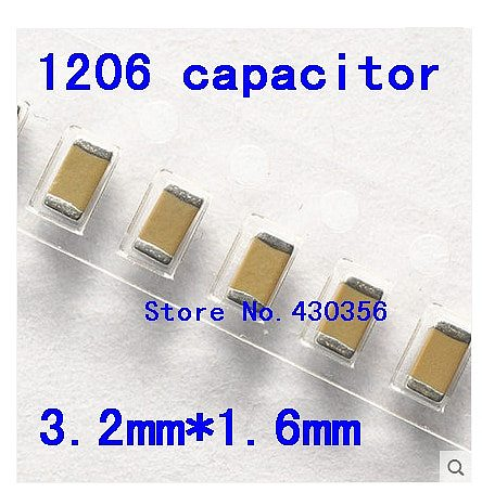 100pcs 100pcs Free shipping 1206 SMD capacitor    470nf  50V  474Z X7R