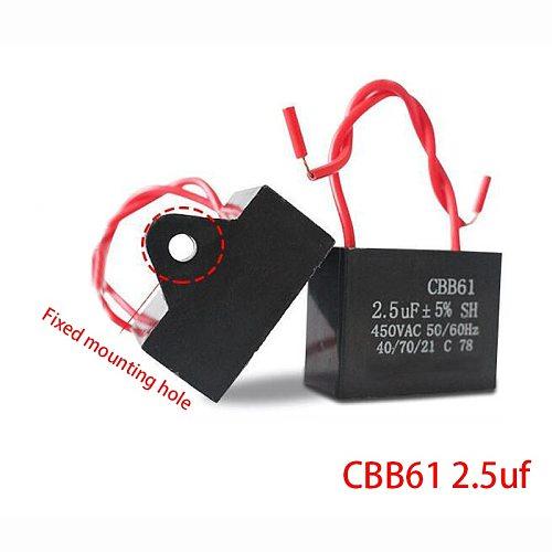 1pcs CBB61 starting capacitance AC Fan Capacitor 450V CBB Motor Run Capacitor 1UF 1.2UF 1.5UF 1.8UF 2UF 2.5UF 3UF 3.5UF 4UF-20UF