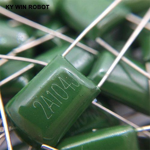 20pcs Polyester poly Film Capacitors 2A104J 100V 0.1UF 100NF