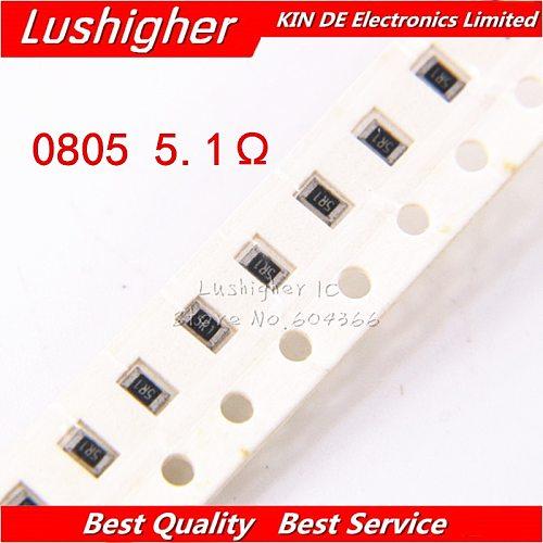 100PCS 0805 SMD Resistor 5% 5.1ohm 5R1 5R10