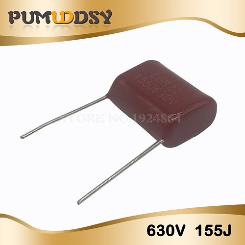 10PCS 630V155J 1.5UF Pitch 20mm 630V 155 155J 1500nf CBB Polypropylene film capacitor