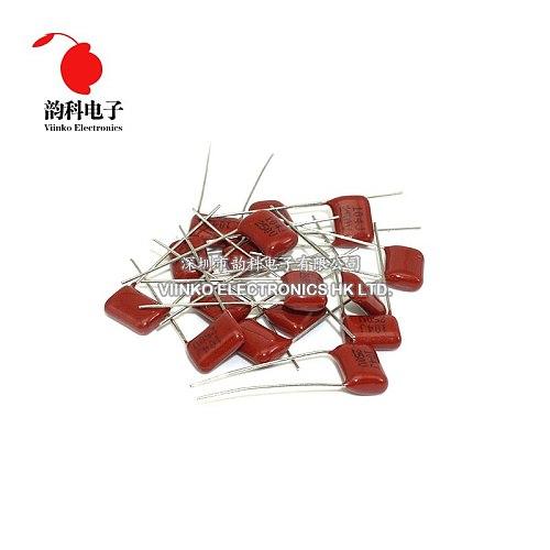 10pcs CBB Polypropylene film capacitor pitch 7.5mm 104 100nF 250V