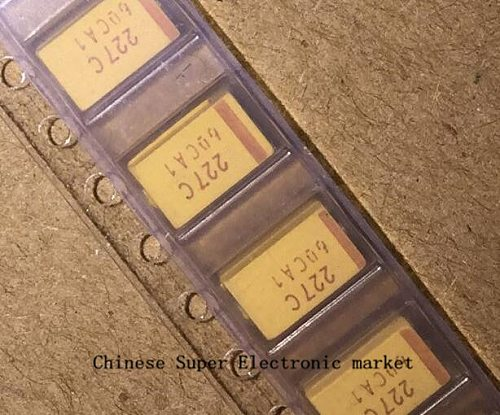 50PCS 227C 16V 220UF D Type 7343 20% SMD tantalum capacitor
