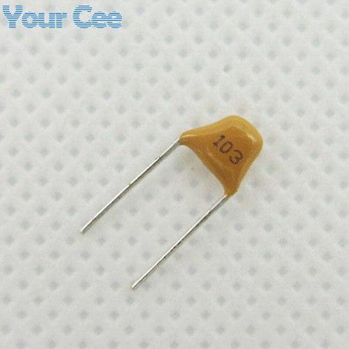 50pcs Monolithic Ceramic Chip Capacitor MLCC Multi-layer Ceramic Capacitor 0.01UF 10NF 103 50V + / - 20%