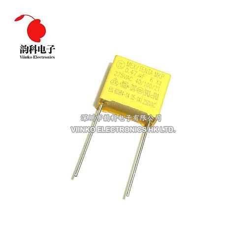 10pcs 275V X2 capacitor Pitch 15mm 275VAC X2 Polypropylene film capacitor 0.47uF 470nF