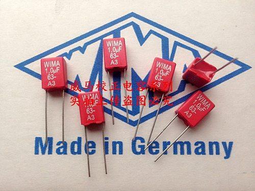 2020 hot sale 10pcs/20pcs Germany WIMA 63V 1.0UF 1UK 63V 105 1UF P: 5mm Audio capacitor free shipping