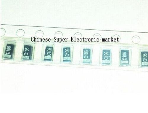 50PCS  A 3216 10uF 16V 106 106C SMD tantalum capacitor