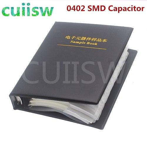 0402 SMD Capacitor Sample Book 80valuesX50pcs=4000pcs 0.5PF~1UF Capacitor Assortment Kit Pack