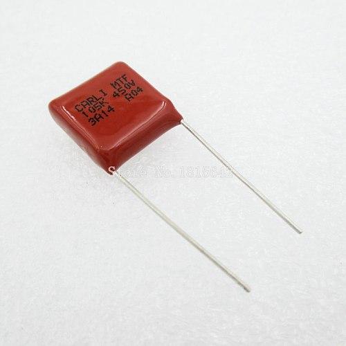 10PCS/Lot 105 1uF 450V CBB Polypropylene film capacitor pitch 15mm 105 1uF 450V New