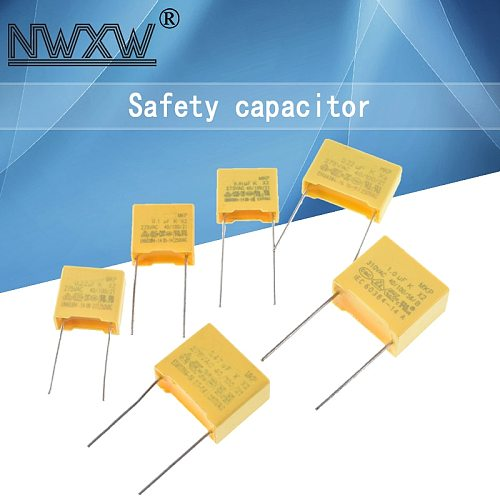 10pcs/Lot X2 Safety Capacitor 275V 2.2nf/4.7nf/10nf/22nf/47nf/100nf/150nf/220nf/330nf/470nF 1uF Pitch P=10/15/22/27MM