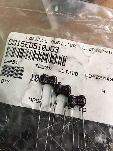 20PCS/50PCS CDM Silver Mica Capacitor CD15ED510J03 500v 51PF Direct Generation 500v47PF/500V56PF FREE SHIPPING